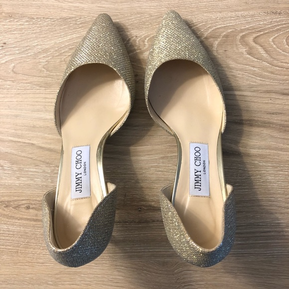 e9f8b796ed7 Jimmy Choo Shoes - NWOT Jimmy Choo Romy 60 Gold Heels